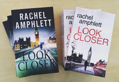 Images shows the old and new book covers for Look Closer side by side
