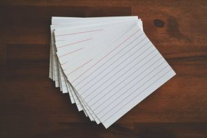 Index cards for plotting