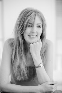 author photograph of Rachel Amphlett black and white