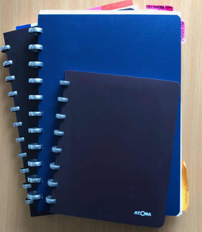 ARC notebooks Rachel uses for research