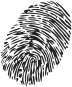 Illustration of a thumb print against a transparent background