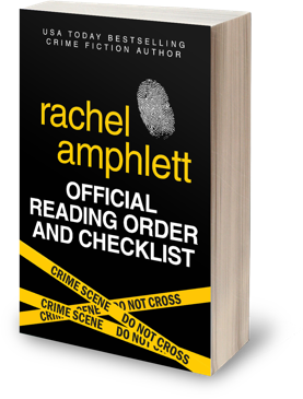 Image shows a 3D cover of Rachel's Official Reading Order and Checklist against a transparent background