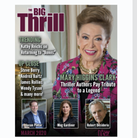Image shows magazine cover of The Big Thrill March 2020 edition