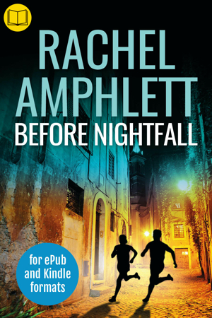 Cover image for Before Nightfall with a book icon in the top left corner