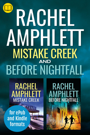 Cover image for the box set of Before Nightfall and Mistake Creek with a book icon in the top left corner