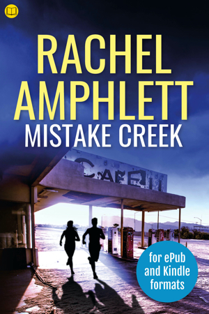 Cover image for Mistake Creek with a book icon in the top left corner