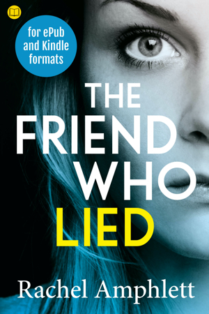 Cover image for The Friend Who Lied with a book icon in the top left corner