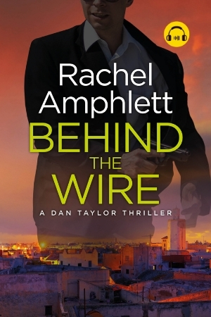 Image shows book cover for Behind the Wire with an audiobook icon