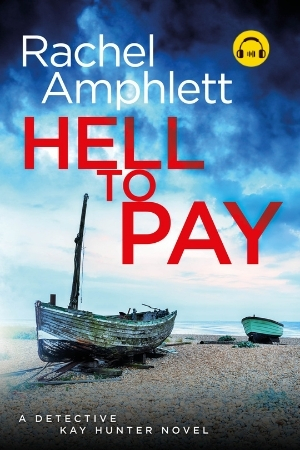 Image shows book cover for Hell to Pay with an audiobook icon