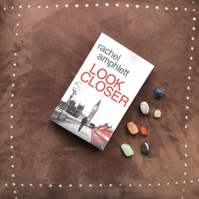 Look Closer book on a soft brown velvet background