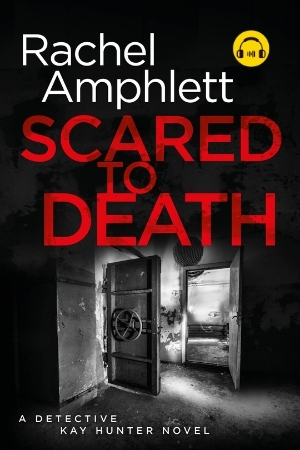 Image shows book cover for Scared to Death with an audiobook icon