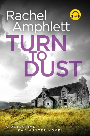 Image shows book cover for Turn to Dust with an audiobook icon
