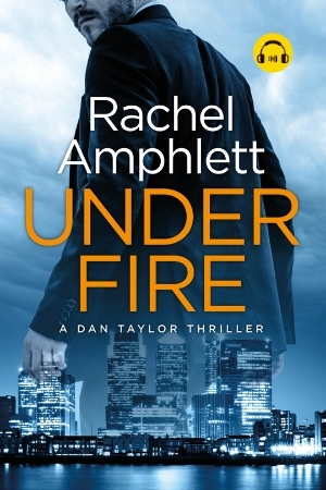 Image shows book cover for Under Fire with an audiobook icon