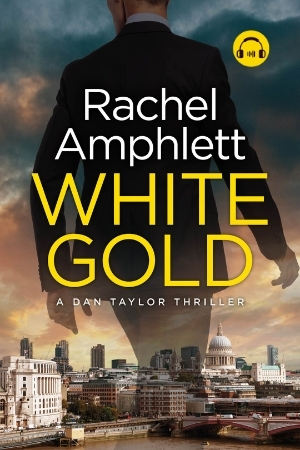Image shows book cover for White Gold with an audiobook icon