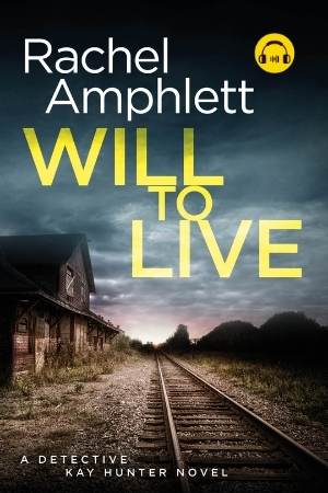 Image shows book cover for Will to Live with an audiobook icon