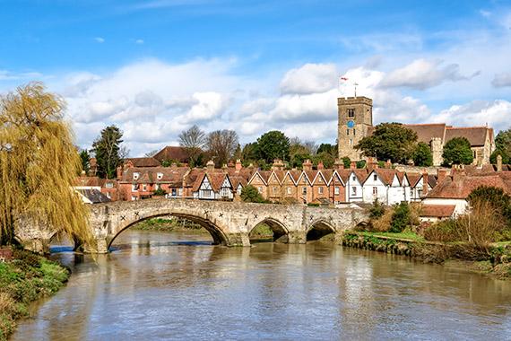 Photo of a bridge over a river in Kent England