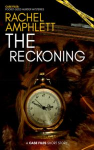 The Reckoning cover showing an old pocket watch lying on pheasant feathers